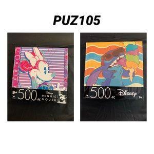 4 / $35 - 2 NEW 500 Piece Disney Jigsaw Puzzles - PUZ105